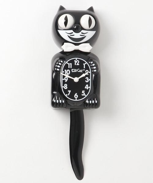 猫型のおしゃれな壁掛け時計