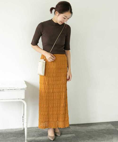 [URBAN RESEARCH ROSSO WOMEN] レースロングスカート