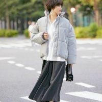 冬のグレーダウンコーデ【2020】大人女性らしいきちんとおしゃれな着こなし♪
