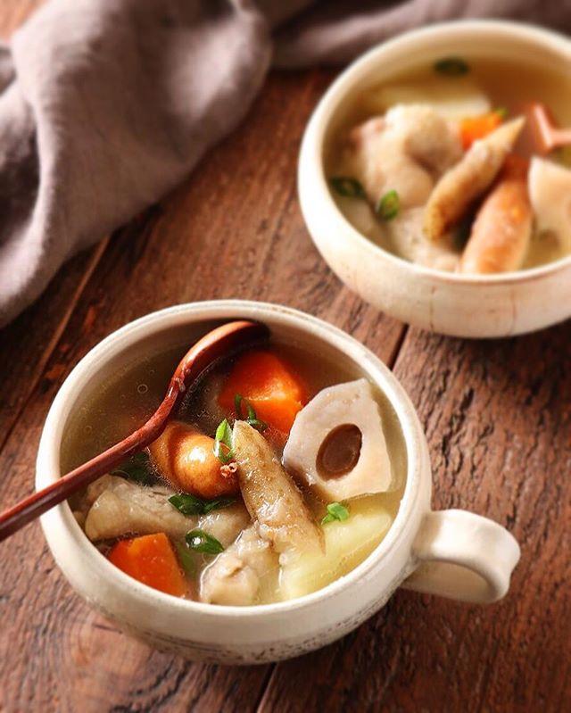 野菜たっぷりの夕飯☆スープ3