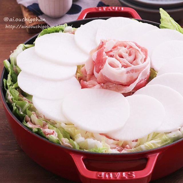 豚バラ肉と白菜の中華風ミルフィーユ鍋