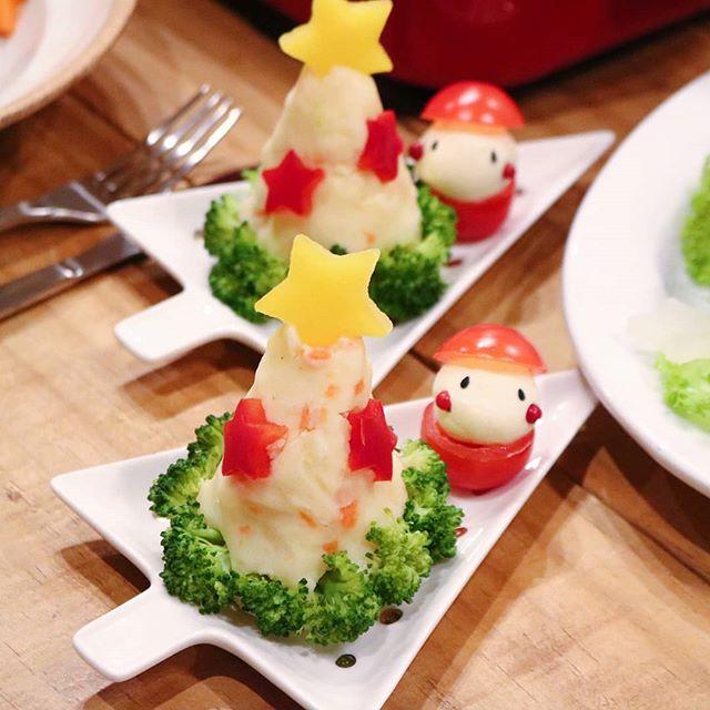 クリスマスの献立に。可愛いポテサラツリー