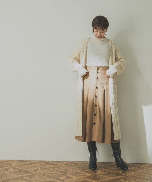 [URBAN RESEARCH] フロント釦フェイクスエードスカート