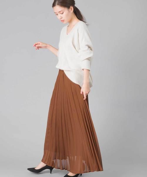 [OMNES] ブリリアントプリーツスカート