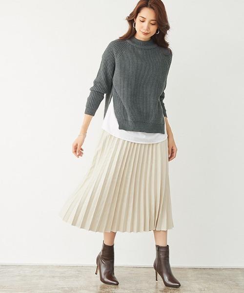 [Pierrot] スエードプリーツスカート