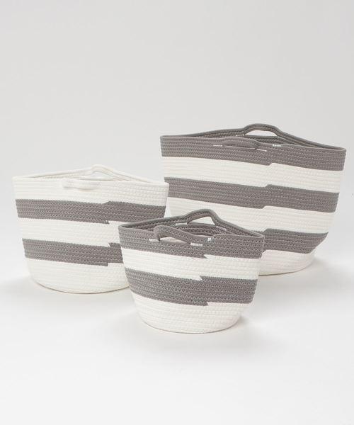 [sarasa design store] セット販売●b2c コットンロープバスケット SML各1個計3個入り