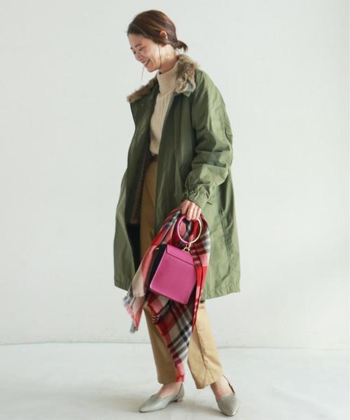 [NOMBRE IMPAIR] 【Fabric in Italy】中綿ピーチイタリアボア3WAYモッズコート