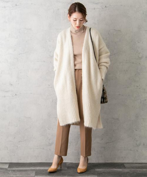 大人女子の冬のデートコーデ パンツ5
