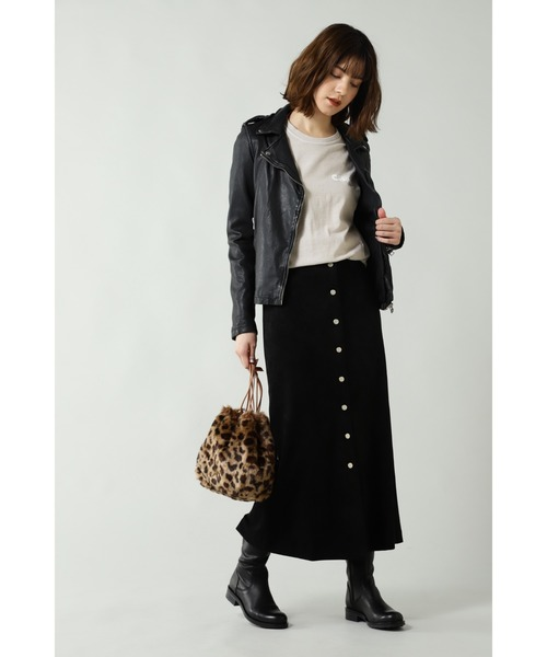 [ROSE BUD] フェイクスエードスカート