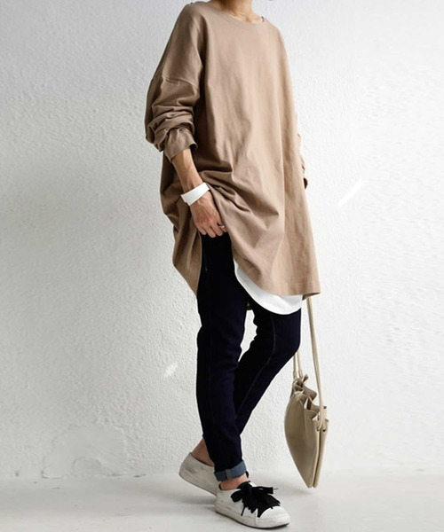 [antiqua] 新色追加!シンプルを長く着る。丈夫でへたらない。バスク生地ロンT