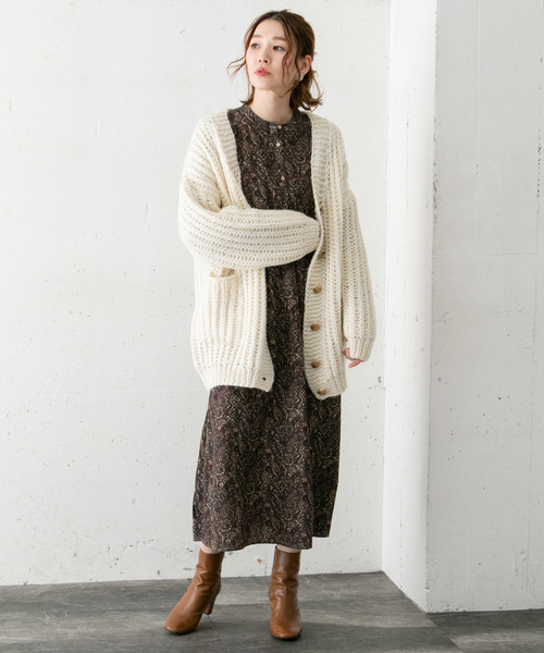 [URBAN RESEARCH ROSSO WOMEN] HAND KNIT CARDIGAN