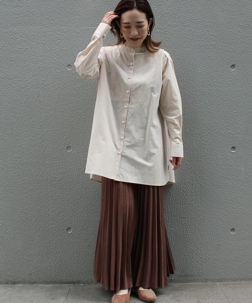 [LAVEANGE] 〈2020AW〉プリーツロングニットスカート