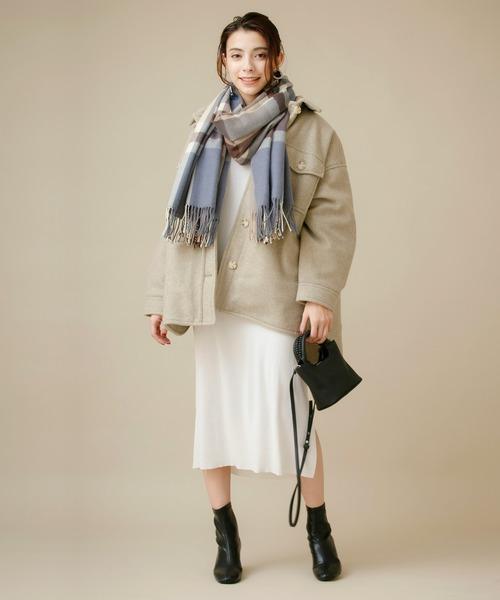 大阪|12月服装|チェックマフラーコーデ