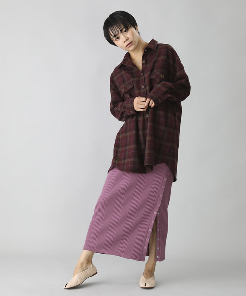 [FREAK'S STORE] 【WEB限定】ビッグシルエットチェックシャツ(ルーズシャツ、オーバーサイズ)