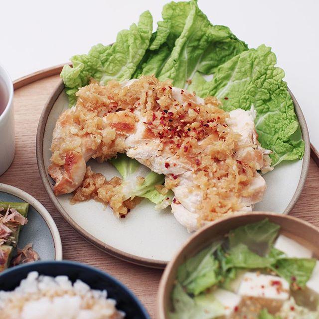 ヘルシー肉料理!定番の鶏胸肉9