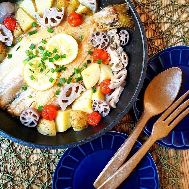 野菜たっぷりの夕飯☆メイン魚料理4