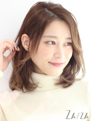 毛量が少ない女性に似合う髪型【ミディアム】2