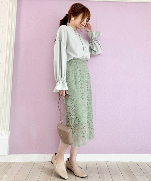 [epimi e'pimmy] フラワーレースタイトスカート