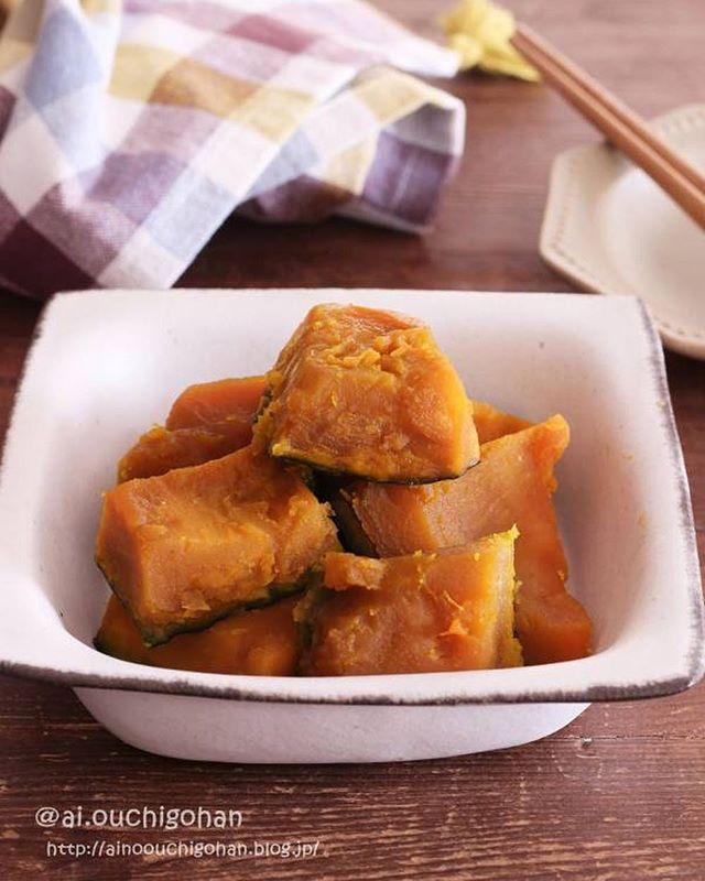 和食の人気メニュー。かぼちゃの甘煮