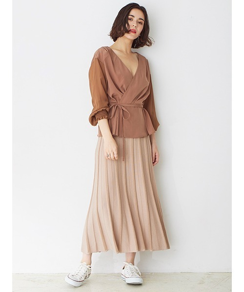 [DRWCYS] RIBニットフレアースカート
