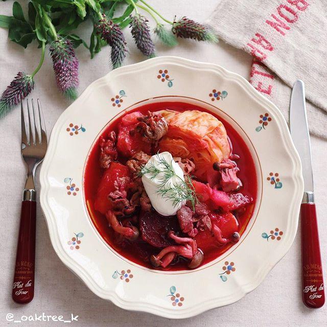 美容効果抜群。ボルシチ風スープ