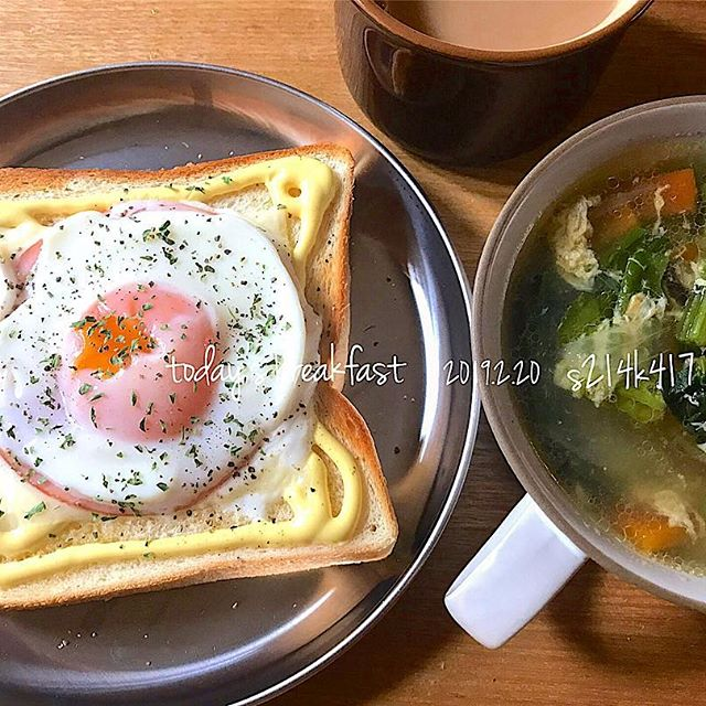朝ご飯のメニューに。目玉焼きトースト