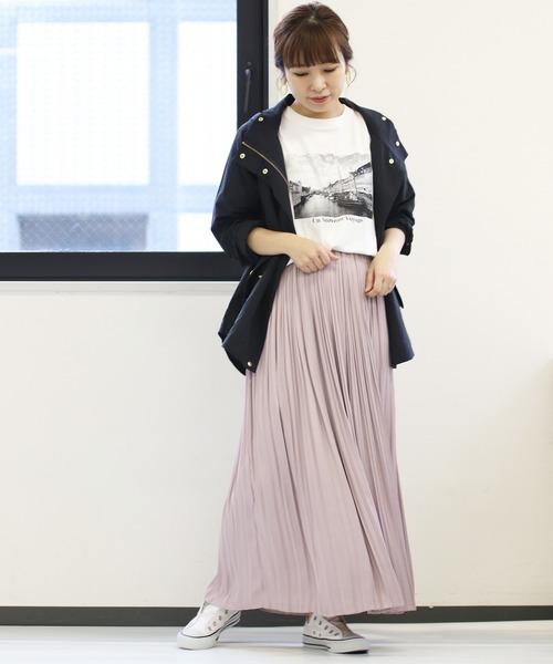 パープルギャザースカート