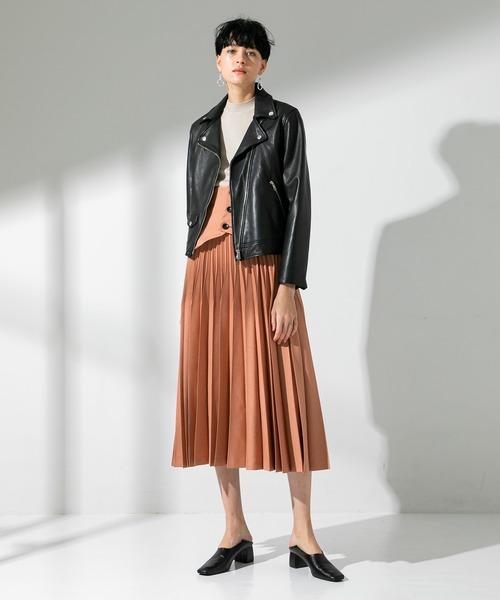 [UNITED TOKYO] ラムレザーダブルライダースジャケット