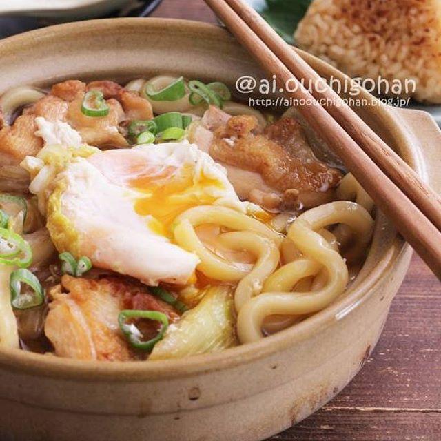 和風の人気レシピ。ワンポット鍋焼きうどん