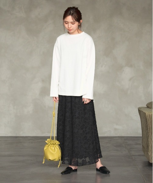 [YARD PLUS/AUNT MARIE'S] AUNT MARIE'S シフォンカットジャガードスカート