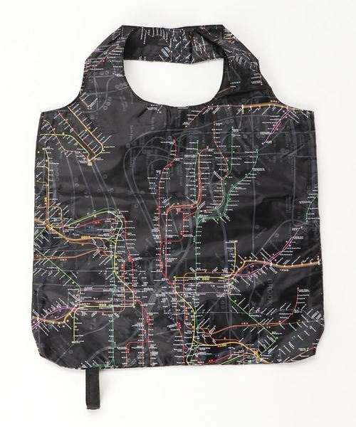 [Parks TOKYO] 【NYC SUBWAY LINE】(UN)折りたたみ エコバッグ・MAP SHOOPER'S TOTE