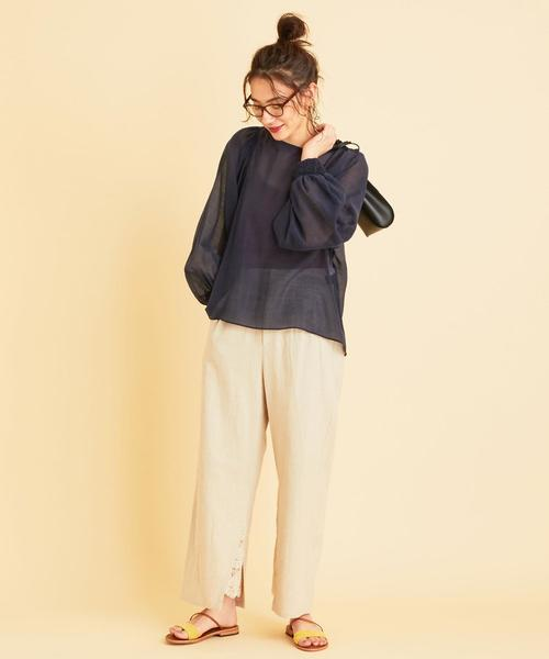 [BEAUTY&YOUTH UNITED ARROWS] BY∴ ギャザースリーブブラウス -ウォッシャブル-о