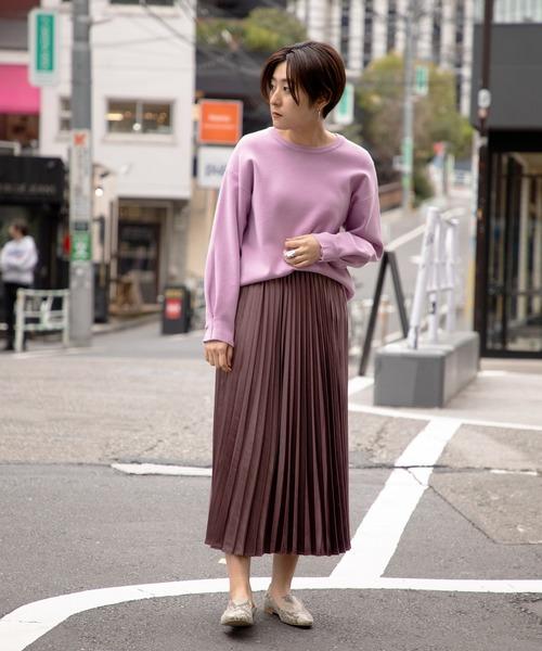 [ROSE BUD] プリーツロングスカート