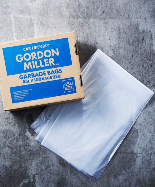 [JACK & MARIE] GORDON MILLER GARBAGE BAGS 45L BOX100 (ゴードン ミラー ゴミ袋)(CLEAR)(丈夫)