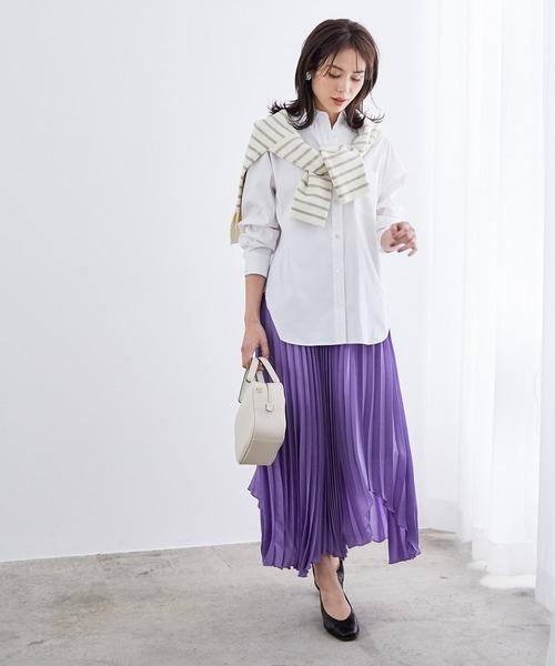 [ROPE'] 【新色追加】【洗える】ハイパワーブロードオーバーシャツ