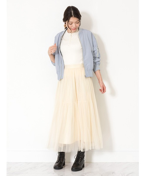 [JILLSTUART] ◆ストライプチュールスカート