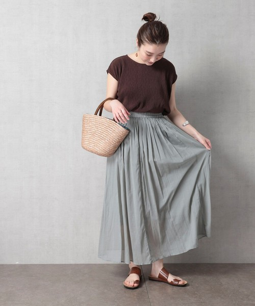 [FREAK'S STORE] 【WEB限定】インドコットン フレアロングスカート