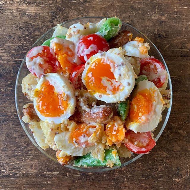 麻婆豆腐に合うジャーマンポテトサラダ