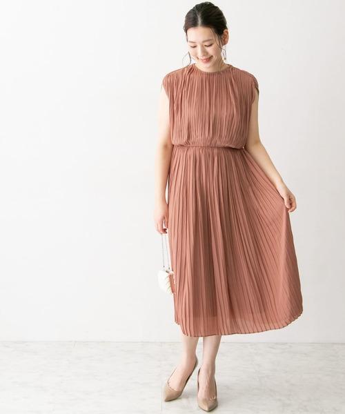 [URBAN RESEARCH ROSSO WOMEN] 総プリーツ楊柳ドレス
