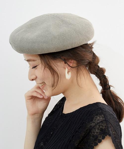 ベレー帽に似合うヘアアレンジ【ミディアム・セミロング】2