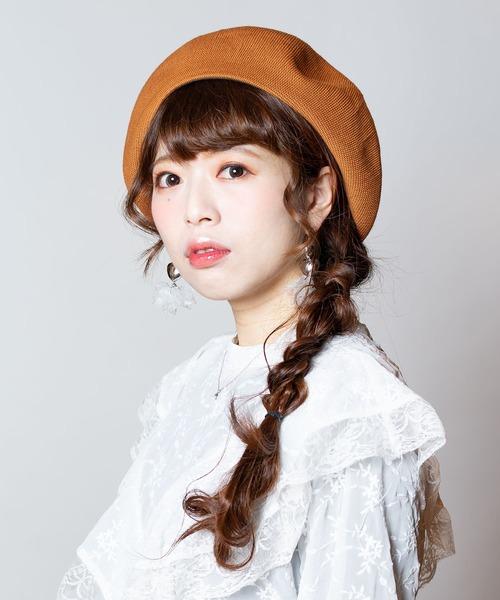 ベレー帽に似合うロングヘアアレンジ【秋冬】5