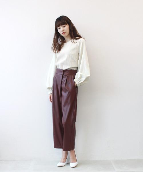 [DRESSLAVE] Sugar Rose / eco leather wrap pants(エコレザーラップパンツ)