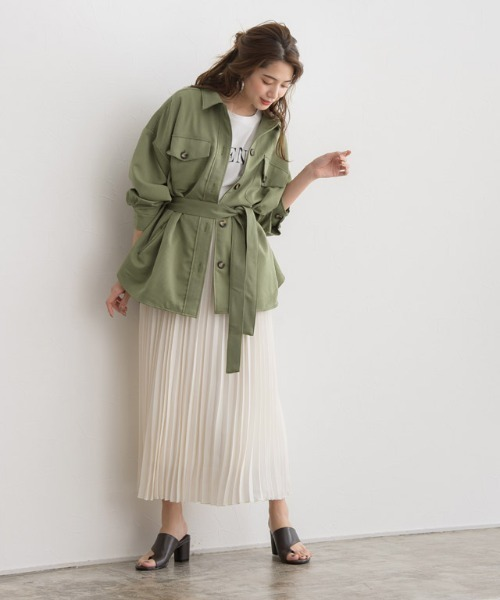 出典:https://zozo.jp/ ウエストベルト付きのジャケット