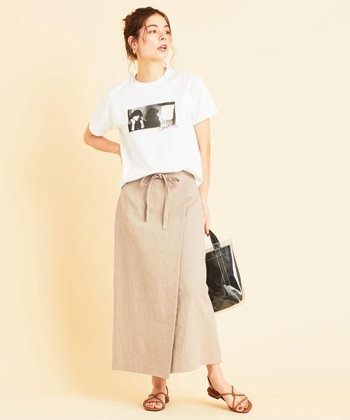 [BEAUTY&YOUTH UNITED ARROWS] BY∴ ラップタイトロングスカート -ウォッシャブル-