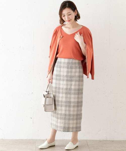 [URBAN RESEARCH ROSSO WOMEN] ブロックチェックタイトスカート