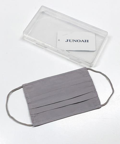 [JUNOAH] 専用ケース付き 洗える フィルターポケットコットンマスク