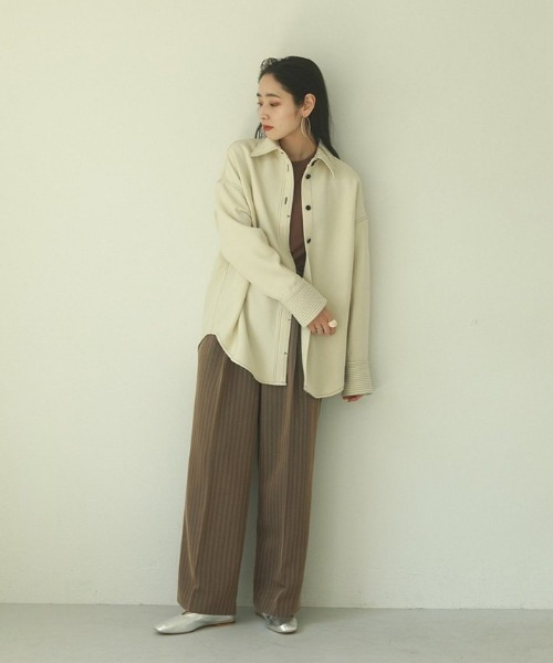 [TODAYFUL] ステッチウールシャツ