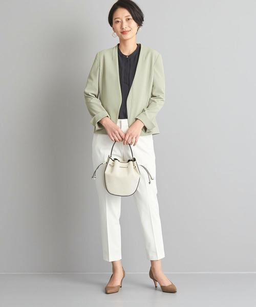 [green label relaxing] 【WORK TRIP OUTFITS】★WTO BC ギャバ ノーカラージャケット