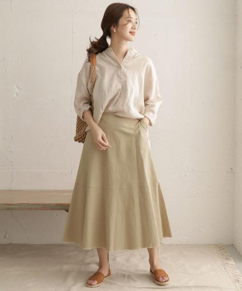 [URBAN RESEARCH DOORS] ヘムカットオフスカート