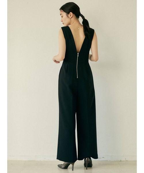[LAGUNAMOON] LADY Vネックパンツドレス
